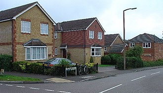 Maidenbower - Image: 1990 2000s Housing Estate Chapman Road, Maidenbower Neighbourhood of Crawley, West Sussex geograph.org.uk 53777
