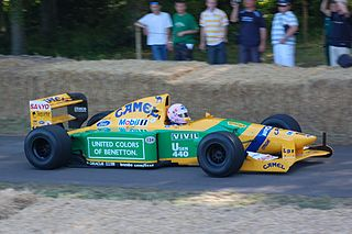 1992 Benetton-Ford B192 Goodwood, 2009.JPG