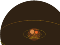 1e11m comparison R Doradus and Betelgeuse, and smaller - antialiased transparency.png