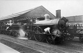 LNWR Improved Precedent Class - No. 1532 Hampden with a non-standard chimney