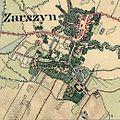 2. Militärische Aufnahme (-1869) Zarszyn am Pielnica.JPG