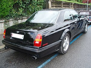 Bentley Continental R - Rear of 2001 Continental R420 Mulliner, the first one built