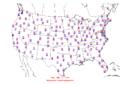 2006-03-15 Max-min Temperature Map NOAA.png