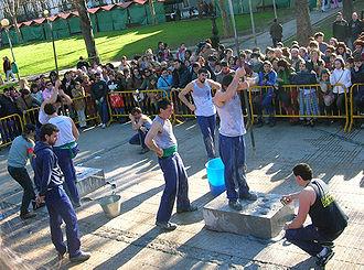 Barakaldo - A stone drilling contest at Saint Vincent's fiestas