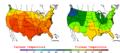2008-07-24 Color Max-min Temperature Map NOAA.png