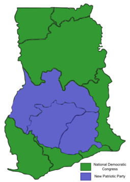 2008 Ghanaian General Election Map.png