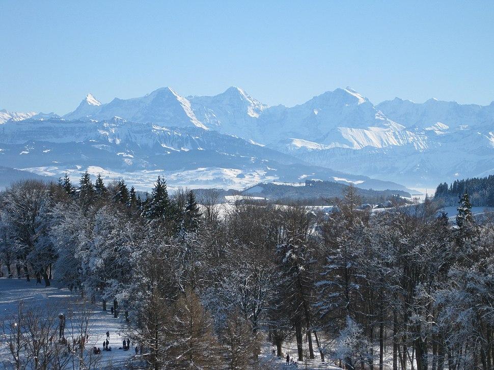 2009-01-11 View from Gurten near Berne in Winter 14