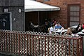2009-05-18 People eating outside at Cosmic Cantina.jpg