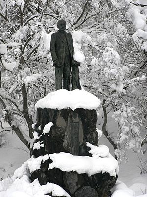 Cornelis Johannes van Doorn - Statue of Cornelis Johannes van Doorn by the Asaka Canal, Japan