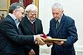 2009 Likhachev Foundation Prize ceremony - Anton Gubankov, Daniil Granin and Viktor Kulakov.jpg