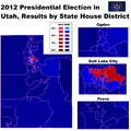 2012 Presidential Election in Utah, Results by State House District.png