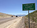 2014-06-13 11 21 45 Sign for Lamoille Summit along eastbound Nevada State Route 227 (Lamoille Highway) between Elko, Nevada and Spring Creek, Nevada.JPG