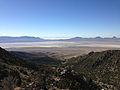 2014-06-29 08 49 58 View down Miner's Canyon towards the Great Salt Lake Desert from about 7100 feet on the southeastern flank of Pilot Peak, Nevada.JPG