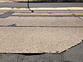 2014-08-27 13 01 48 View across Parkway Avenue (Mercer County Route 634) near the Delaware and Bound Brook Railroad underpass, with concrete pavement likely dating to the 1950s.JPG