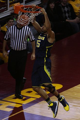Jon Horford - Horford dunking in the Michigan–Minnesota 2013–14 Big Ten season opener