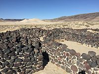 2015-04-02 16 41 36 Ruins of the Sand Springs Pony Express Station, Nevada with Sand Mountain visible in the background.JPG