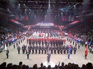 Military tattoo - Finale scene from the 2015 Royal Nova Scotia International Tattoo