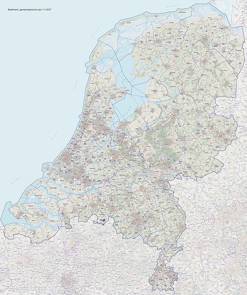 Karte der niederländischen Gemeinden