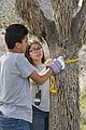 2017 Student Summit on Climate Change - Joshua tree Monitoring Project - Students measure the diameter of a Joshua tree's trunk at breast height (33365641711).jpg