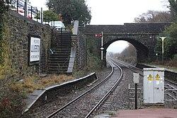 2018 at Ulverston station - Prince's Street bridge.JPG