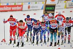 20190301 FIS NWSC Seefeld Men 4x10km Relay Start 850 5514.jpg