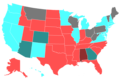2020 United States Senate Election by Change of the Majority Political Affiliation of Each State's Delegation From the Previous Election.png