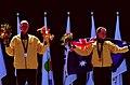 261000 - Athletics track 100m T38 Katrina Webb Alison Quinn silver gold medal podium 2 - 3b - 2000 Sydney medal photo.jpg