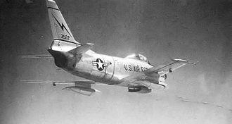 31st Tactical Reconnaissance Training Squadron - North American F-86D Sabre 52-3922 at Larson AFB, Washington, 1955