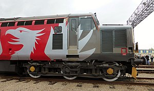 UK Rail Leasing - Europhoenix Logo on Class 37