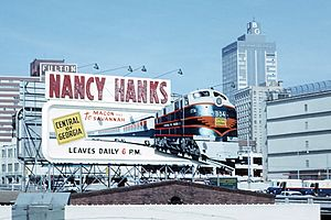 Nancy Hanks (train) - An advertisement for the Nancy Hanks II