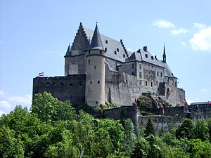 Architecture of Luxembourg - Vianden Castle