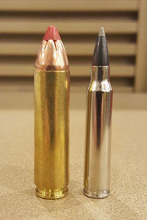 .450 Bushmaster - Image: 450 BM + 223