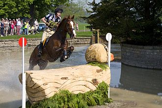 Eventing - A rider on cross-country