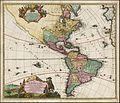 48192Johann Baptiste Homann Totius Americae Septentrionalis et Meridionalis Novissima Representatio quam ex fingulis Geographorum Tabulis collecta luci publicae accommodavit Nuremberg 1720.jpg