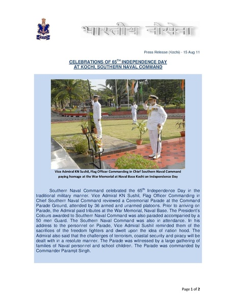 File:65th Independance Day Celebrations at Kochi (Indian Navy).pdf