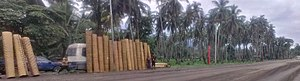 6 Mile, Lae - Image: 6 Mile roadside hardware store selling pre fab building walls, Lae, Papua New Guinea