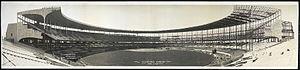 Cleveland Stadium under construction in 1931
