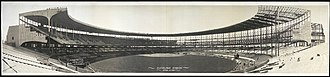 Cleveland Stadium - Cleveland Municipal Stadium under construction in 1931
