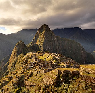 South America - The Inca estate of Machu Picchu, Peru is one of the New Seven Wonders of the World.