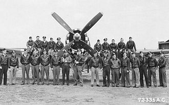 82d Aerial Targets Squadron - Pilots of the 82d Fighter Squadron, 78th Fighter Group, Eighth Air Force, 1945