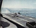 A-4E Skyhawk lands on USS Hornet (CVS-12) c1963.jpg