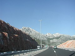 A1 highway near the Skradin in 2004 year.jpg