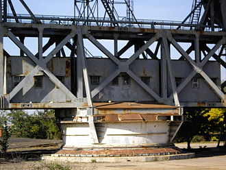 Pluton (complex) - Steerable frames constructed from battleship gun turrets and railway bridge trusses.