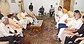 A BJP delegation led by J&K State President, Shri Sat Sharma meeting the Union Home Minister, Shri Rajnath Singh, in Srinagar on August 24, 2016.jpg