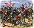 A Chronicle of England - Page 367 - The King Attacked by the Duke of Alencon.jpg