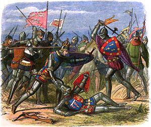 Jean I, Duke of Alençon - John I of Alençon fights against Henry of England and Edward of York at the Battle of Agincourt.