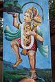 A Hanuman image at old Marari temple Kerala entrance.jpg