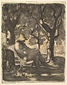 A Man Reading in a Garden (recto); Preliminary sketch for a Man Reading in a Garden (verso) MET DP824210.jpg