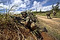 A New Zealand soldier securing a road at the Kahuku Training Area (120731-F-MQ656-391).jpg