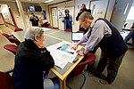 A Scientist Shows Secretary Kerry a map of Areas of Concern in the Western Antarctic ice Shelf at Crary Labs at McMurdo Station (30928351985).jpg